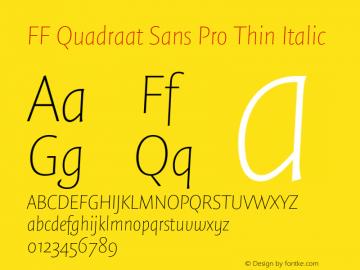 FF Quadraat Sans Pro