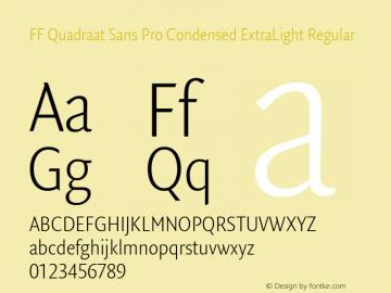 FF Quadraat Sans Pro Condensed ExtraLight