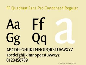 FF Quadraat Sans Pro Condensed