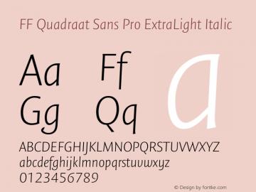 FF Quadraat Sans Pro ExtraLight