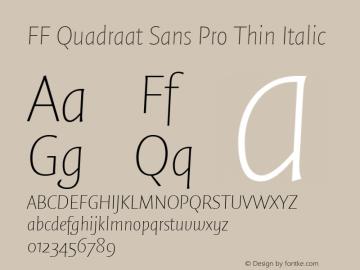 FF Quadraat Sans Pro Thin