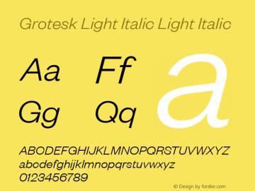 Grotesk Light Italic