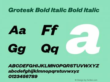 Grotesk Bold Italic