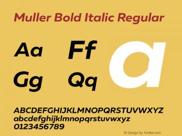 Muller Bold Italic