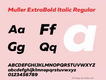 Muller ExtraBold Italic