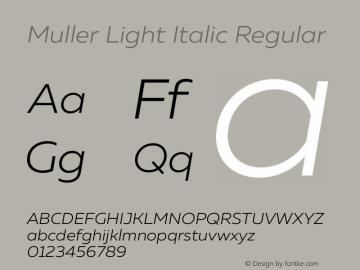 Muller Light Italic