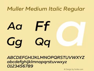 Muller Medium Italic