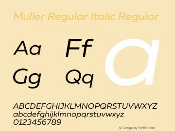 Muller Regular Italic