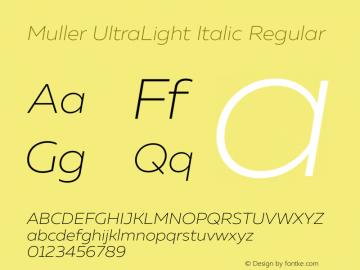 Muller UltraLight Italic