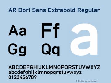AR Dori Sans Extrabold