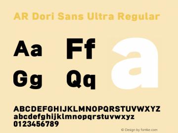 AR Dori Sans Ultra