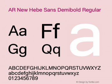 AR New Hebe Sans Demibold