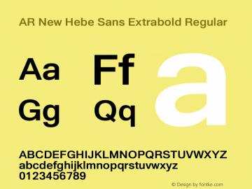 AR New Hebe Sans Extrabold