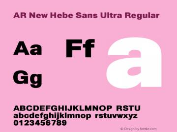 AR New Hebe Sans Ultra