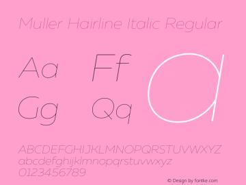 Muller Hairline Italic
