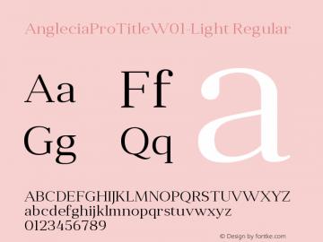 AngleciaProTitle-Light