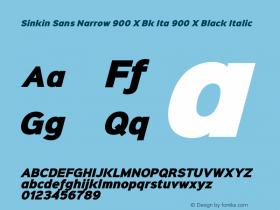 Sinkin Sans Narrow 900 X Bk Ita