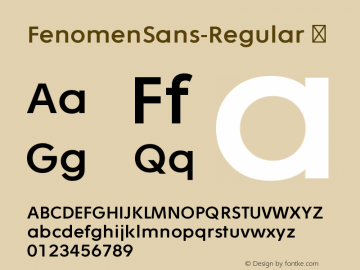 FenomenSans-Regular