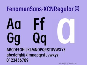 FenomenSans-XCNRegular