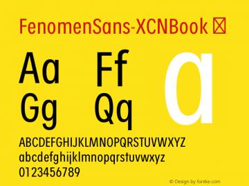 FenomenSans-XCNBook