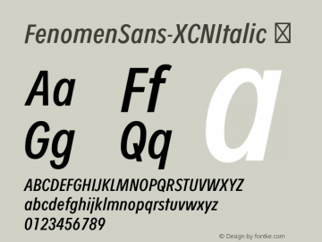 FenomenSans-XCNItalic