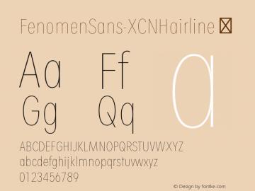 FenomenSans-XCNHairline