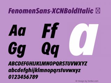 FenomenSans-XCNBoldItalic