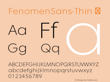 FenomenSans-Thin