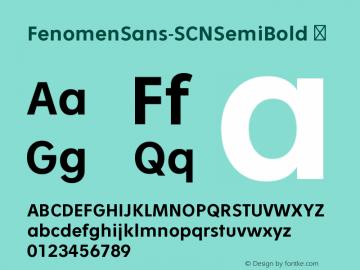 FenomenSans-SCNSemiBold