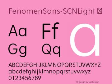 FenomenSans-SCNLight