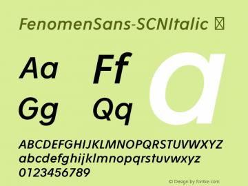 FenomenSans-SCNItalic