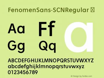 FenomenSans-SCNRegular
