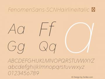 FenomenSans-SCNHairlineItalic
