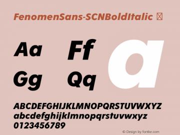 FenomenSans-SCNBoldItalic