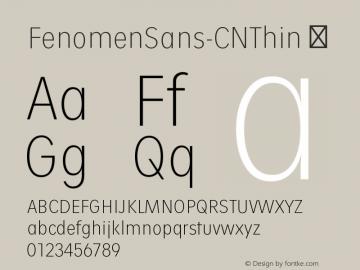 FenomenSans-CNThin