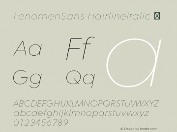 FenomenSans-HairlineItalic