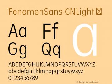 FenomenSans-CNLight