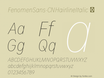FenomenSans-CNHairlineItalic