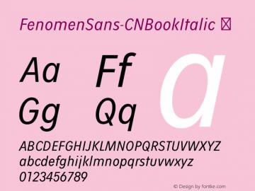 FenomenSans-CNBookItalic