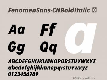 FenomenSans-CNBoldItalic