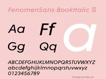 FenomenSans-BookItalic