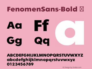 FenomenSans-Bold