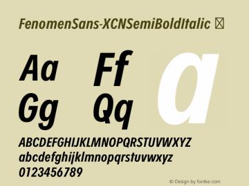 FenomenSans-XCNSemiBoldItalic