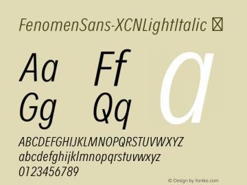 FenomenSans-XCNLightItalic