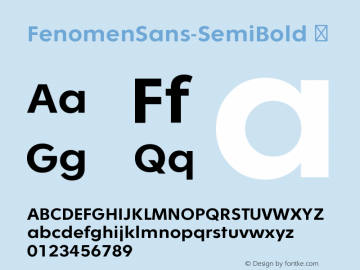 FenomenSans-SemiBold