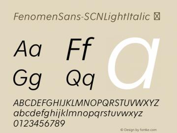 FenomenSans-SCNLightItalic