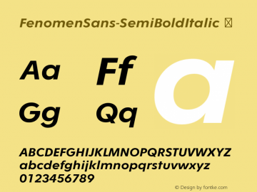 FenomenSans-SemiBoldItalic
