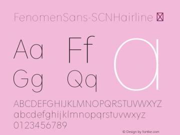 FenomenSans-SCNHairline