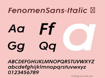 FenomenSans-Italic