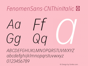 FenomenSans-CNThinItalic
